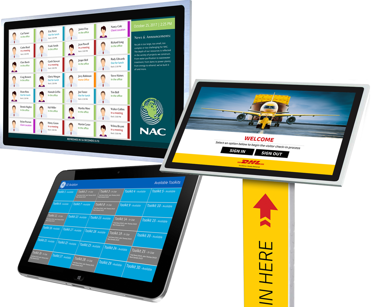 Fully customizable solutions for staff tracking, resource management, and more